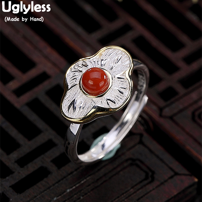 Solid 925 Sterling Silver jewelry Gemstone Handmade Ring for Women.