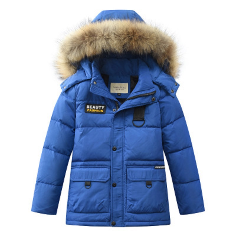 2018 New Korean Kids Children Down Jacket Clothes Boys Girls Winter Coat Long Thickening Child coat for 6 8 10 12 14 Years