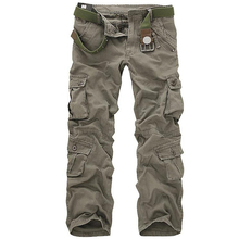Men Tactical Military Pants Male Casual Multi-pockets Overal