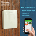 Lifesmart 433 mhz rf control remoto doble inteligente de interruptor de pared light touch para iso android smart home automation system