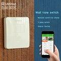 Lifesmart 433 mhz rf controle remoto duplo inteligente na parede light touch switch para iso android smart home sistema de automação