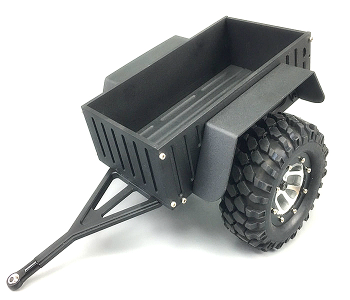 High Quality All Metal Trailer for 1/10 rc Crawler Car Traxxas TRX4 D90 D110 Axial scx10 90046 90047 RC4WD CC01 ford bronco hpi king 1973 ford bronco