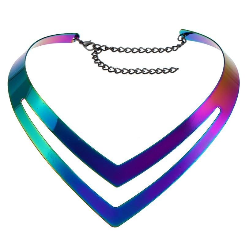 LZHLQ Geometrische holle metalen draaimomenten Dames trendy - Mode-sieraden - Foto 3