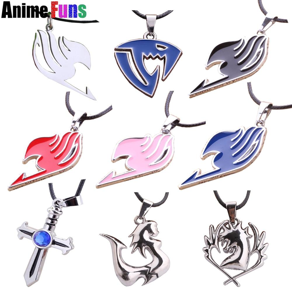 9 type anime fairy tail necklace blue pegasus lamia scale