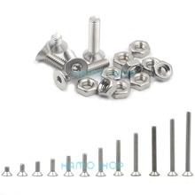 цена 50pcs M4 Stainless Steel Flat Countersunk Head Hexagon Thread Screws Bolts онлайн в 2017 году