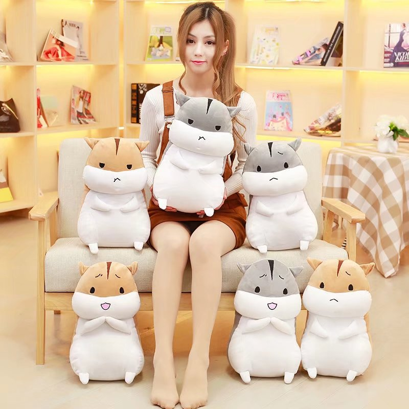 Super Cute 1Pc 40-50Cm Lovely Snack Standing Style Lovely Face Hamster Soft Dolls Stuffed Animal Toy Girlfriend Birthday Gift