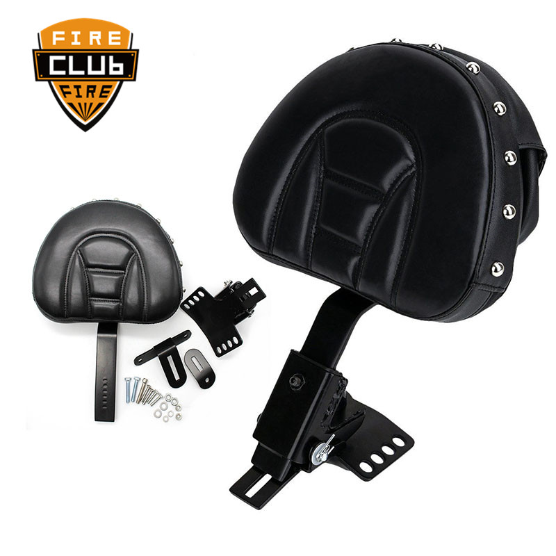 For Harley Touring Electra Road Street Glide Road King 97-15 Motorcycle Adjustable New Plug In Driver Rider Seat Backrest Kit