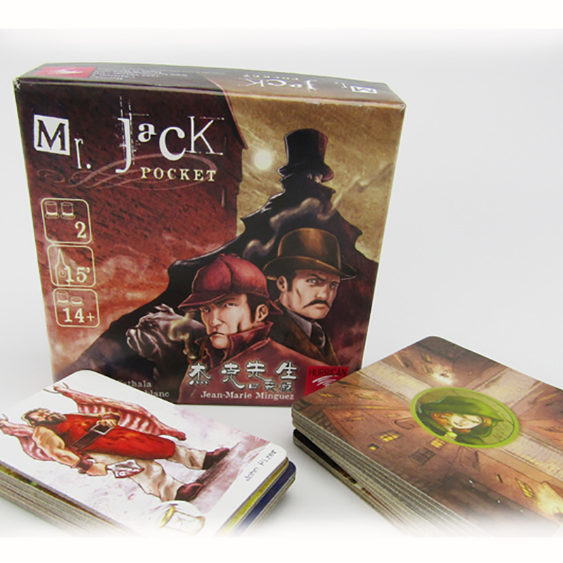 Mr. Jack Pocket Board Game 2 Players Family/Party Best Gift for Children Battle Game Indoor Entertainment