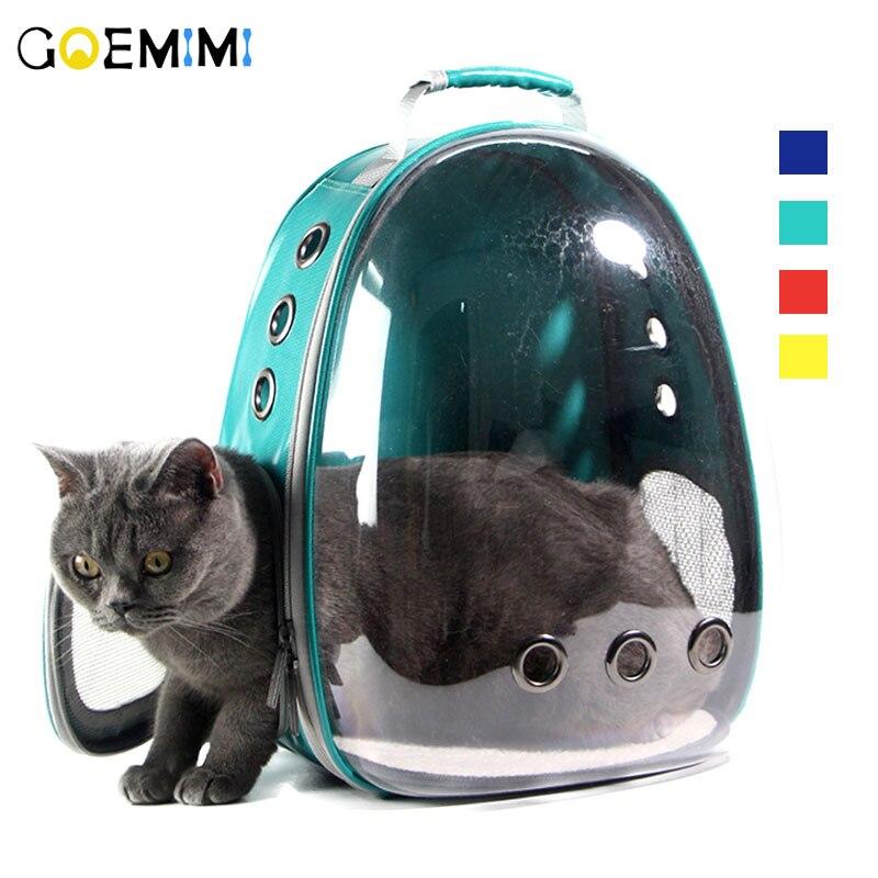 Новый Pet Cat Рюкзак с дышащей сеткой сумка для переноски собак прозрачный дизайн открытый дорожная сумка для чихуахуа Маленькая Собака Кошка ...
