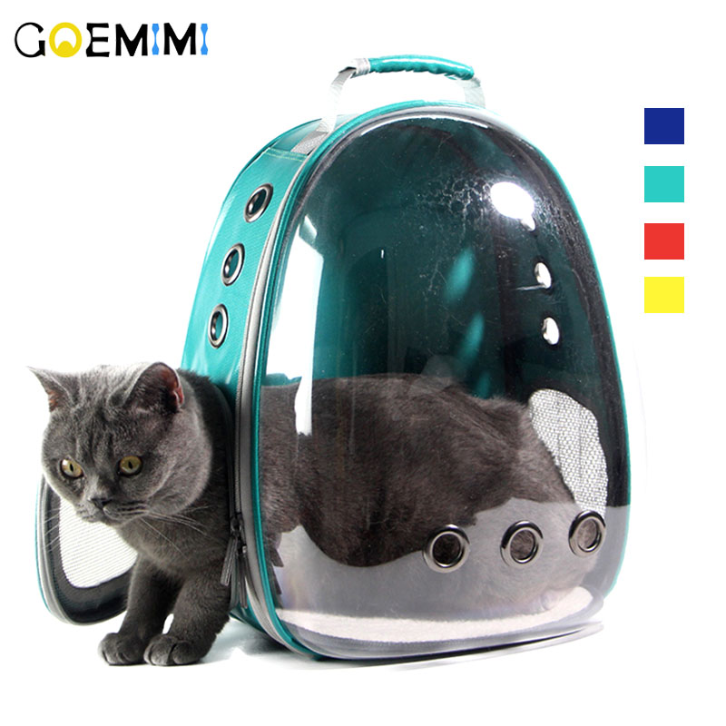 New Pet Cat Backpack Mesh Breathable Puppy Carrier Transparent Design Outdoor Travel Bag For Chihuahua Small Dog Cat Carrier