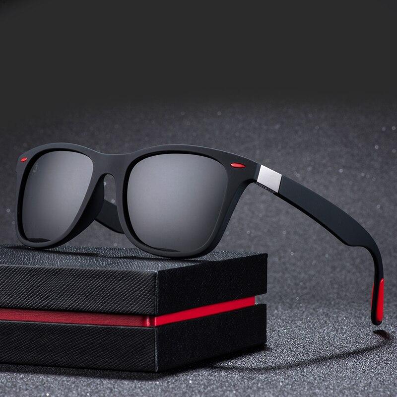 ZXWLYXGX Gafas De Sol polarizadas clásicas para hombre y mujer, diseño De marca para conducir, Gafas De Sol con marco cuadrado, Gafas para hombres, Gafas De Sol UV400