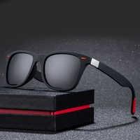 ZXWLYXGX Gafas De Sol polarizadas clásicas De diseño De marca para hombre, Gafas De Sol cuadradas, Gafas De Sol para hombre, Gafas De Sol UV400