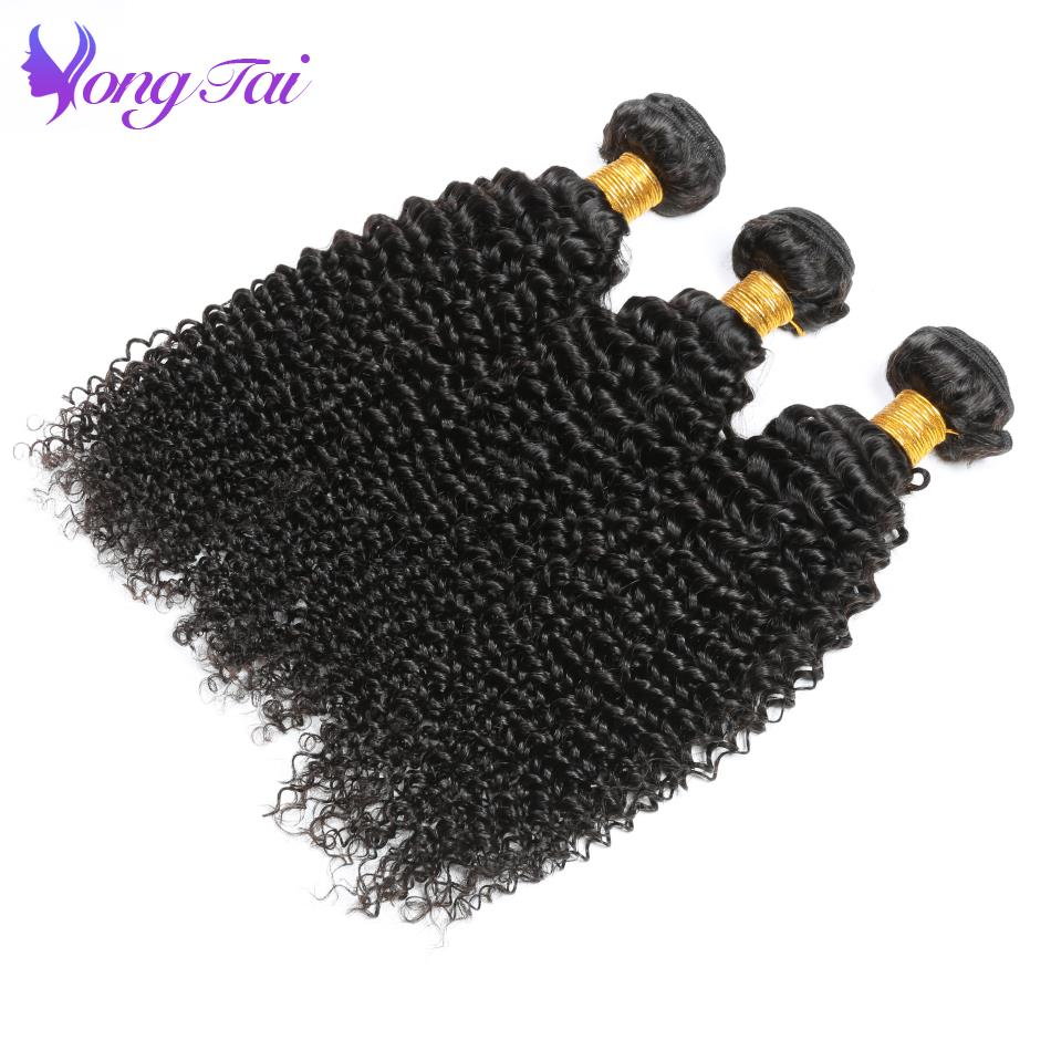 Brazilian Afro Kinky Curly Weave Human Hair Bundles Yuyongtai Hair Products Non Remy Natural Black Hair Weaving Extensions
