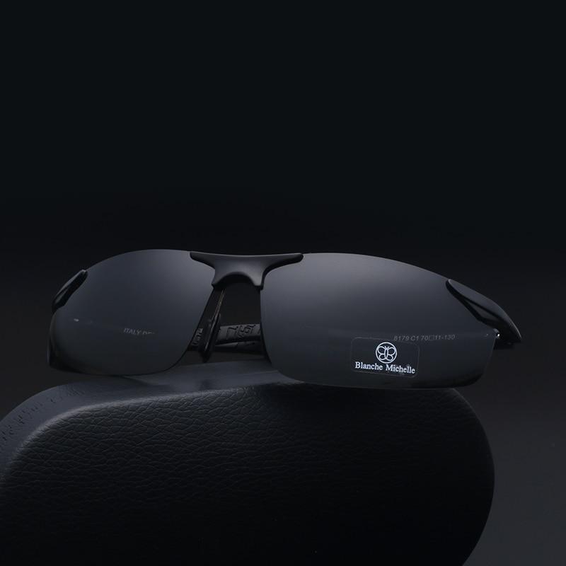 2018 Aluminium Magnesium Kacamata Pria Terpolarisasi UV400 Mengemudi - Aksesori pakaian - Foto 5