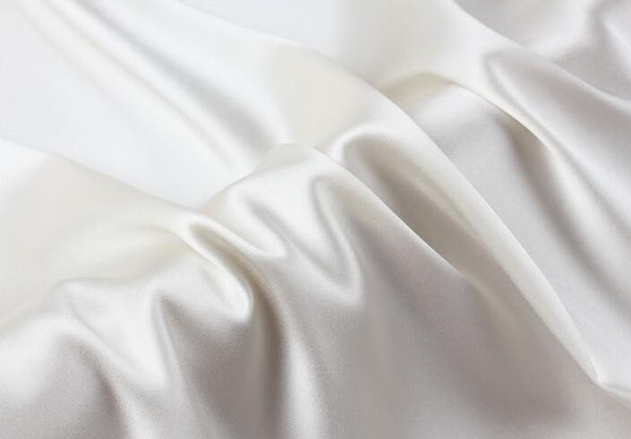 Howmay wholesale 100 pure silk fabric satin charmeuse 19m m 55 140cm natural white for sewing