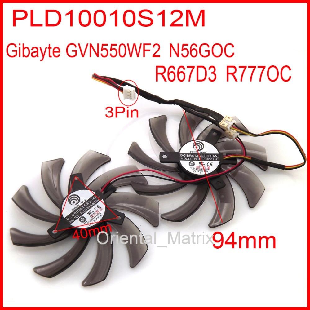 Тегін жеткізу 2pcs / lot PLD10010S12M 12V 0.2A Gigybyte GVN550WF2 үшін N56GOC R667D3 R777OC GV-N650OC-1Gl 2Gl Желдеткіш