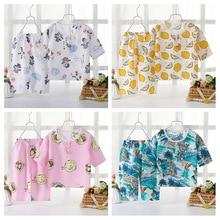 Girls Sleepwear Boys Kids Home Clothes Baby Pajamas Sets 2 pcs 2019 Summer Short Sleeved Set Cartoon Children's Sleepwear