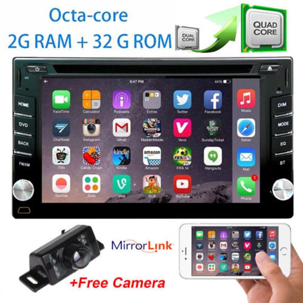 Беспроводной камера + 8-Core Android 7,1 ПК автомобиля компьютер авто Радио Стерео DVD gps 2 Din головное устройство Bluetooth руль Управление