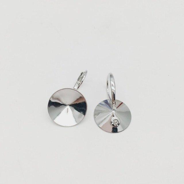 Boucles doreilles mme Betti 14mm Rivoli résultats 1122 paramètres de cuivre en cristal autrichien avec levier français pour la fabrication de bijoux bricolage