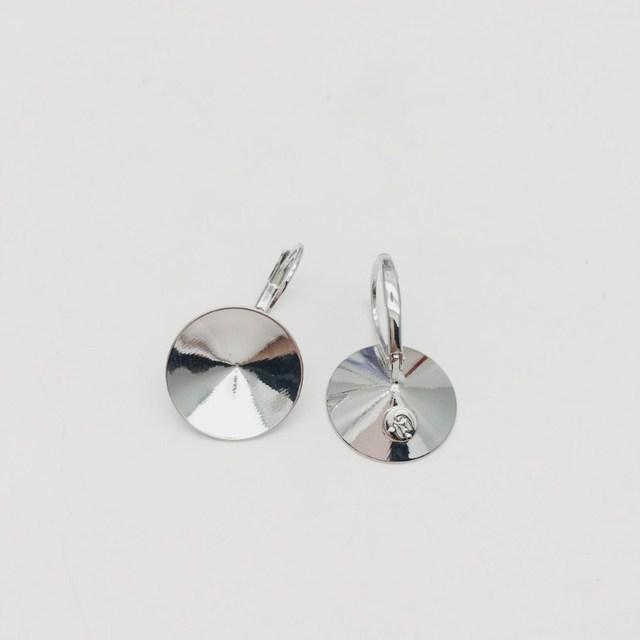 Ms.Betti 14Mm Rivoli Oorbellen Bevindingen 1122 Oostenrijkse Crystal Copper Instellingen Met Franse Lever Terug Voor Sieraden Diy Maken