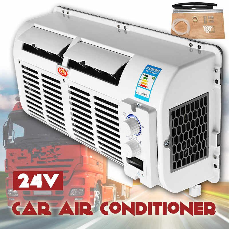 100W 12V/24V Car Air Conditioner Air Dehumidifie Multifunction Wall-mounted Cooling Fan Evaporator For Car Caravan Truck