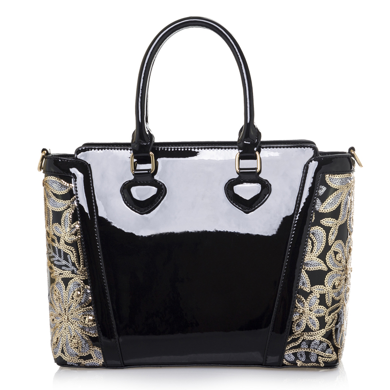 1a27fcfceb00 Women s Patent Leather handbags Candy colors shoulder bags shiny shaping  bag bucket bag messenger bags female totes Bolso-in Shoulder Bags from  Luggage ...