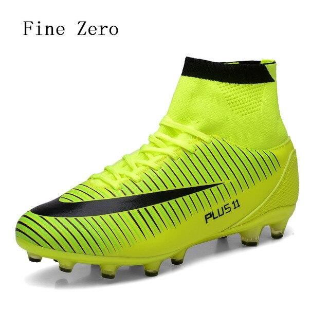 b52e9945f3270 2019 زائد حجم 39-46 رجل ملعب نجيلة صناعي للعب كرة القدم أحذية عالية الكاحل