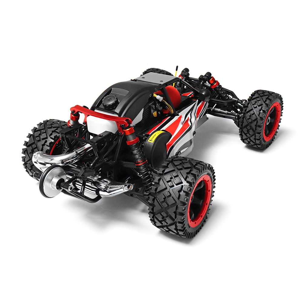 Rovan Q-Baja Rc Car 1/5 RWD 29CC Gas 2 Stroke Engine Buggy With Symmetrical Steering Toys No Battery Big Scale With Transmitter 1 5 scale gas rc car 29cc engine rtr