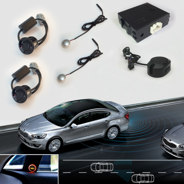 7f816681fbc Car Blind Spot Rear Parking Sensors Assistance System For Auto Radar Backup  Kit 2 Reverse Sensors 2 LED Indicator 1 Alarm Buzzer