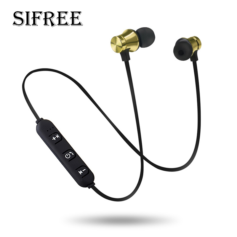 SIFREE Bluetooth Wireless Headphone Sport Running Stereo Magnet Earbuds With Microphone Earphone Headset For iPhone