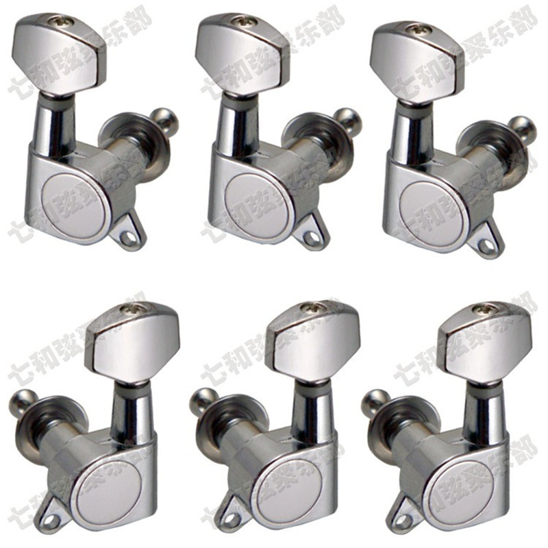 3R3L Chrome Inline Guitar String Tuning Pegs keys Tuners Machine Heads for Acoustic Electric Folk Guitar profession guitar string tuning pegs keys tuners machine heads 3r3l set black