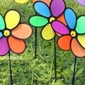 DIY ветряная мельница 24*64 см Классические Игрушки твердых multicolors Ветер Spinner Юла Сад Мельница пластиковая Игрушка подарок Купить 3 получить 1
