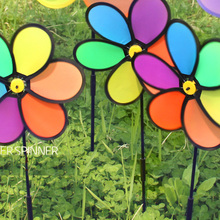 DIY windmill 24*64cm Classic Toys solids multicolors Wind Spinner Whirligig Garden Windmill plastic Toy gift  Buy 3 Get 4