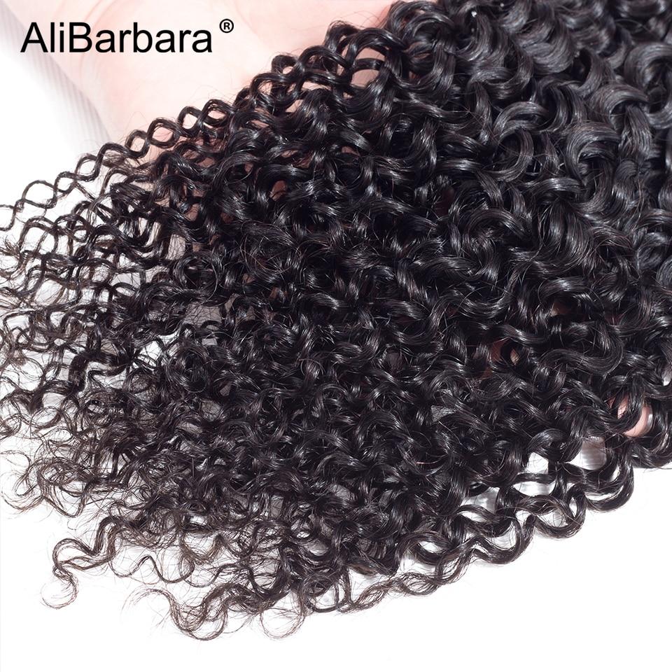 Alibarbara волос Малайзии странный вьющихся волос, плетение Комплект s натуральный Цвет человеческих волос Комплект цельнокроеное платье 8-28 дюй...