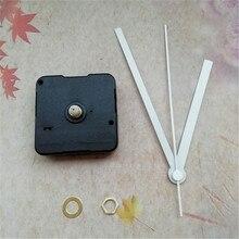 Melhor vendedor fornecedor 500 pçs sem tic varredura relógio de quartzo movimento kit com relógio branco mãos diy relógio de parede