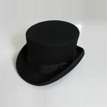 British Style Men Women Wool Fedora Steampunk Top Hat Cylind