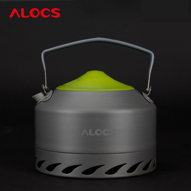 Alocs CW-K07 Outdoor Camping Kettle Energy-gathering Ring Coffee/Tea Pot 0.9L