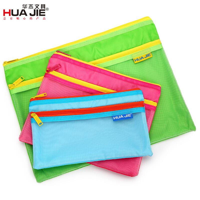 Document Bag A4 A5 A6 Multi Specification Storage Bag Double Zipper Bag Information Bag Office Stationery For Corporate School