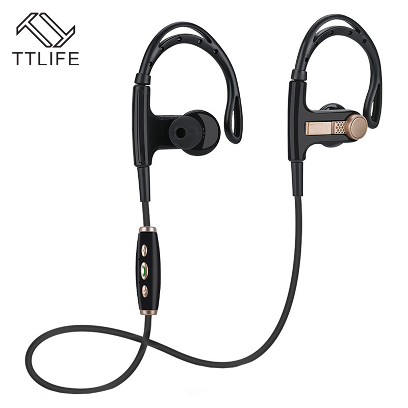 TTLIFE Wireless Bluetooth Ear Hook Handsfree Stereo Wireless Sport Earphones With Mic for Smart Android Xiaomi xiomi auriculares wave ear hook wireless stereo music bluetooth earphone handsfree headphone for iphone7 7s xiaomi for storm with mic