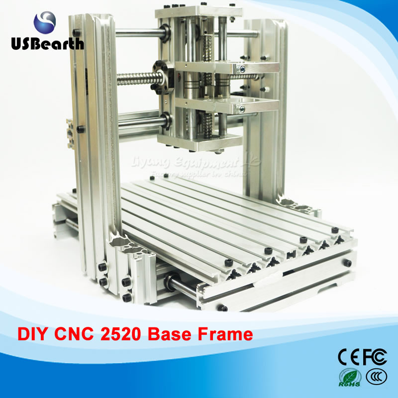 DIY CNC machine 2520 Base frame kit cnc Engraving machine milling router Machine cnc 5axis a aixs rotary axis t chuck type for cnc router cnc milling machine best quality