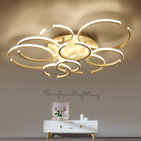 Modern Ceiling Lights Creative Aluminum LED Living Room Fixtures Bedroom Ceiling Lamps Nordic Novelty Iron Ceiling