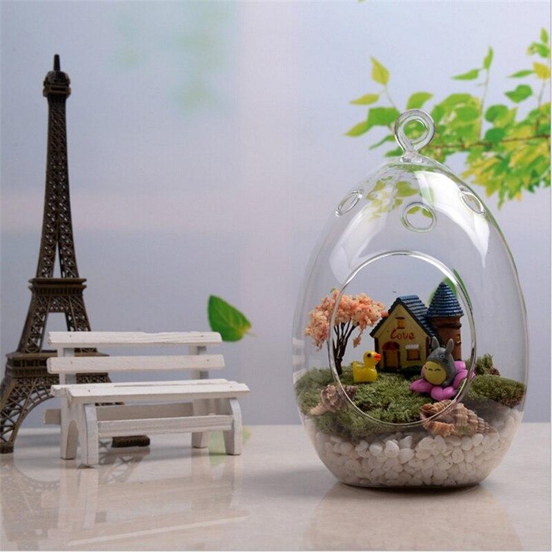 Taille suspendus verre vase succulentes mousse micro paysage créatif verre artisanat
