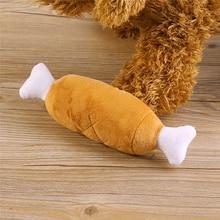 Velvet Pet Dog Cat Chicken Legs Bone Plush Chew toys attractive Interactive Sound Toys Supplies