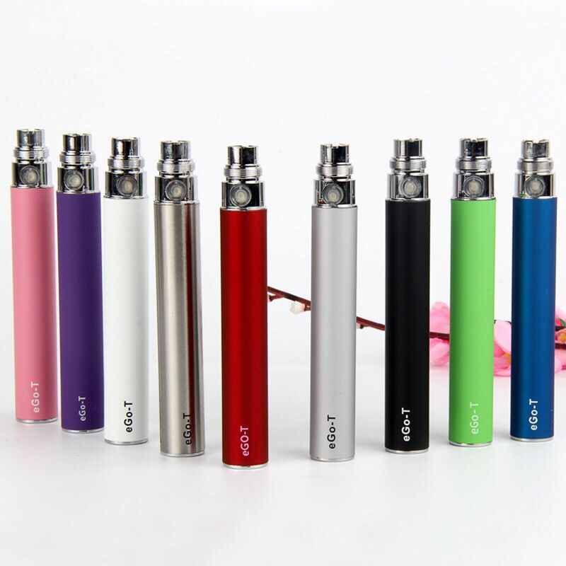 Ego Battery Electronic Cigarette 650/900/1100mAh eGo T Battery evod Twist VV for 510 CE4 CE5 g2 h2 Atomizers E Cig Vape Pen Kit ce4 e ego t 650mah 900mah 1100mah ce4 ce4 kits