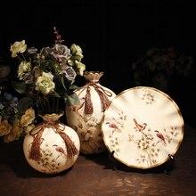 Decorações criativas ornamentos vaso de cerâmica definir sem flor