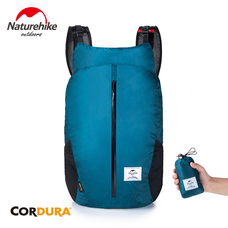 Naturehike 25L Folding Sports Bag Ultralight Travel Backpack 30D Nylon Hiking Waterproof Backpack Outdoor Travel Bags NH18B510-B