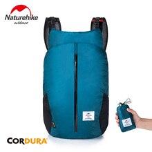Купить с кэшбэком Naturehike 25L Folding Sports Bag Ultralight Travel Backpack 30D Nylon Hiking Waterproof Backpack Outdoor Travel Bags NH18B510-B