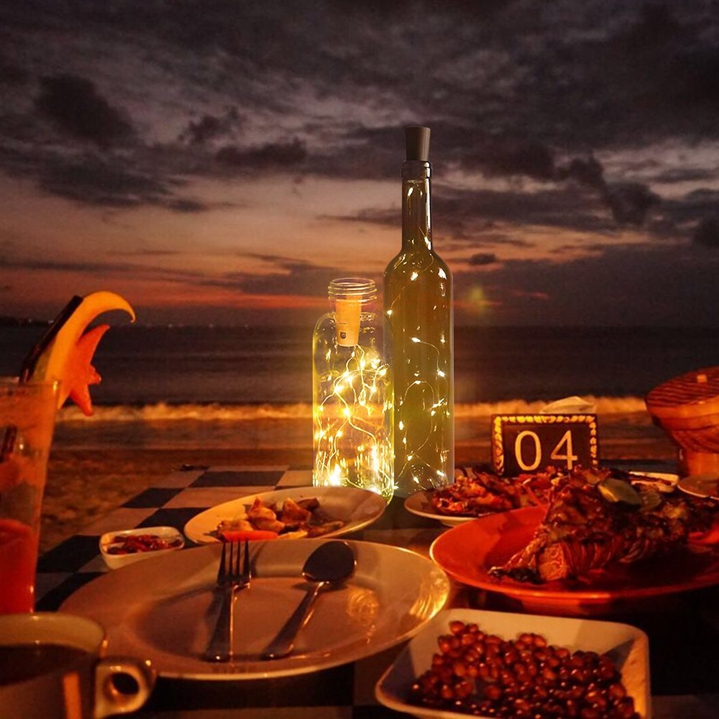 lâmpadas led garrafa de vinho rolha luz