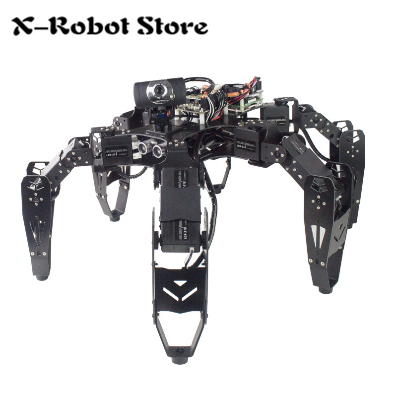 18DOF robot Raspberry Pi six foot robot RaspberryPi open source Python for wireless wifi video transmission remote control