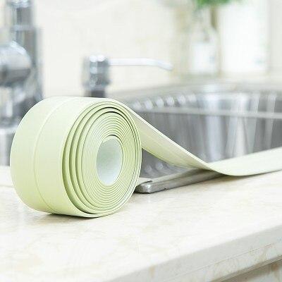 1roll PVC Mildew Waterproof Tape Corner Seams Kitchen Toilet Sealing Strip Stove Seal Protectors Sink Slit Wallpaper 2267WS